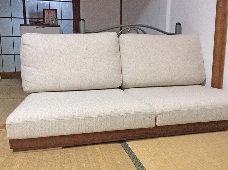 和室にもぴったりのローソファ!ゆったり座って柔らかさを実感してください。【国産ローソファ・フロアソファ専門店HAREM】