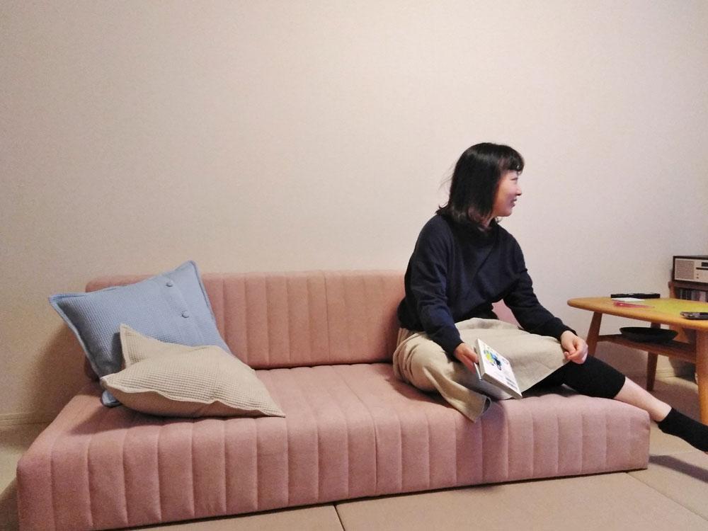 つみきソファ 店舗限定カラー 2人掛け ローソファー